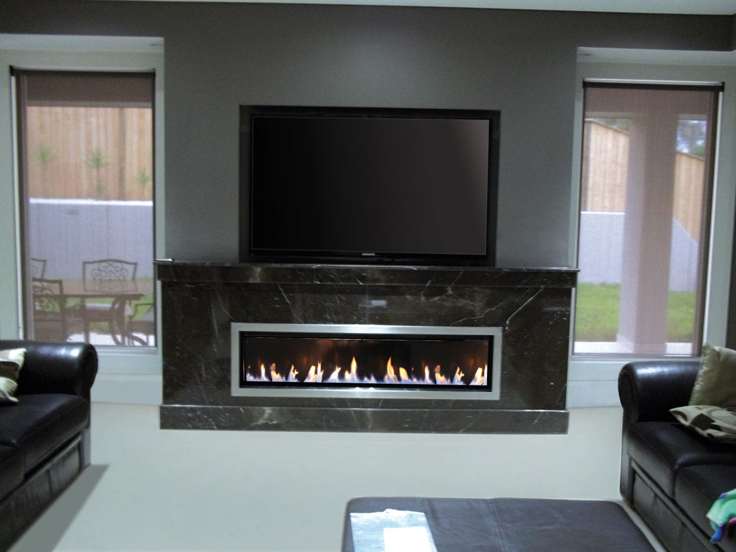 Landscape Gas Log Fireplace | Real Flame Gas Fires Melbourne